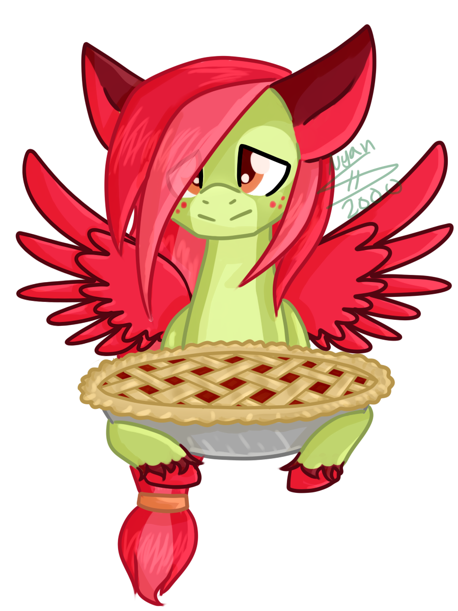 Cherry Limeade Pie Pony [YCH] by Nyan-Adopts-2000