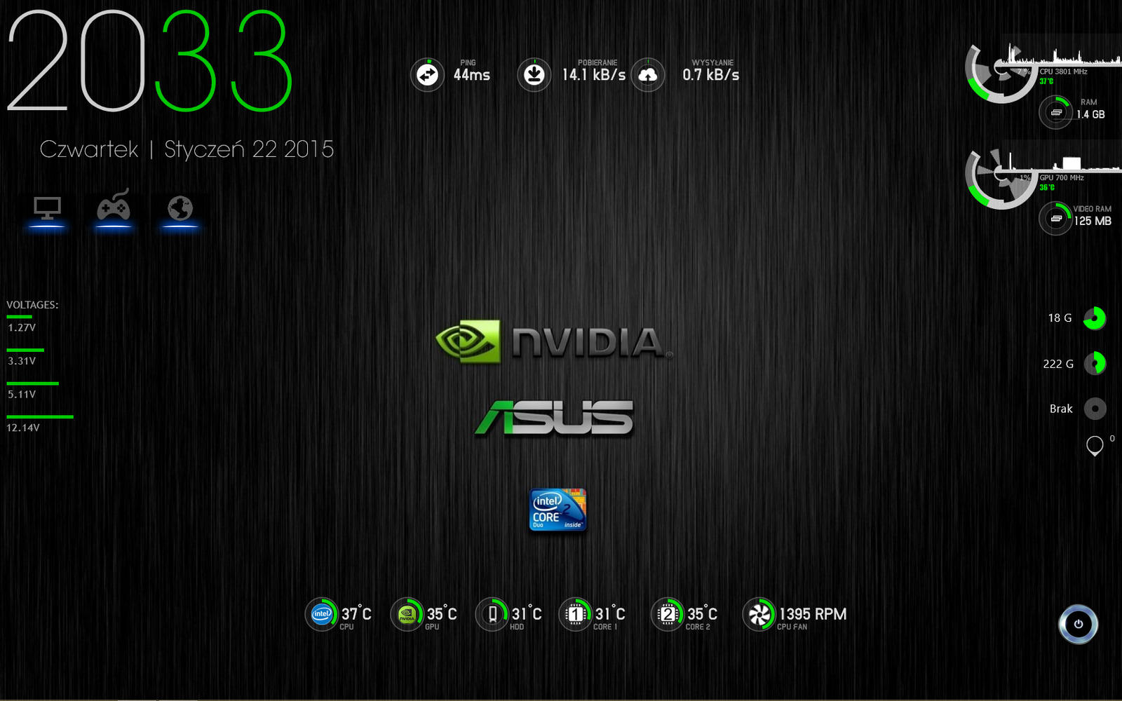 Rainmeter desktop by andyfrei on deviantart for Deviantart rainmeter