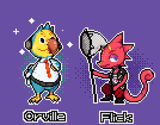 Orville and Flick by PsychoDino3