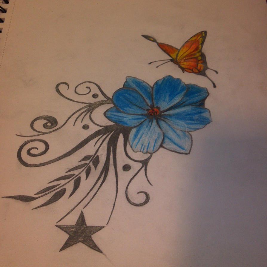 Butterfly Flower by Release-is-Power