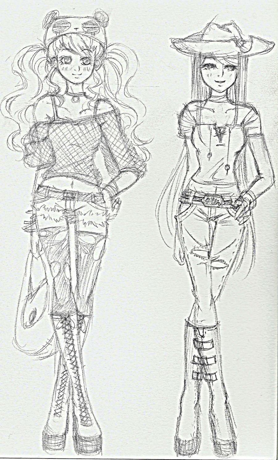 Just for fun fashion doodles - incomplete by missmiakomyori