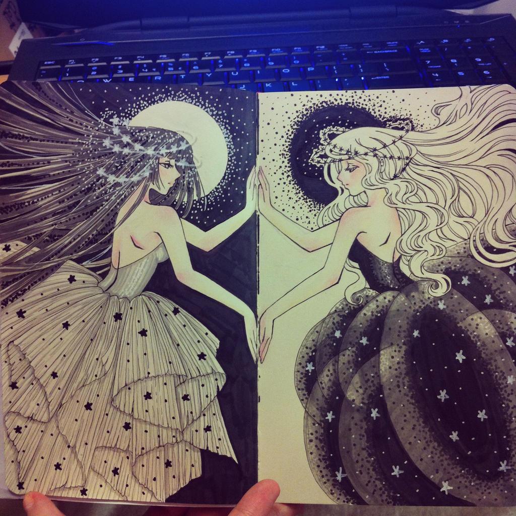 The moon and the stars by missmiakomyori