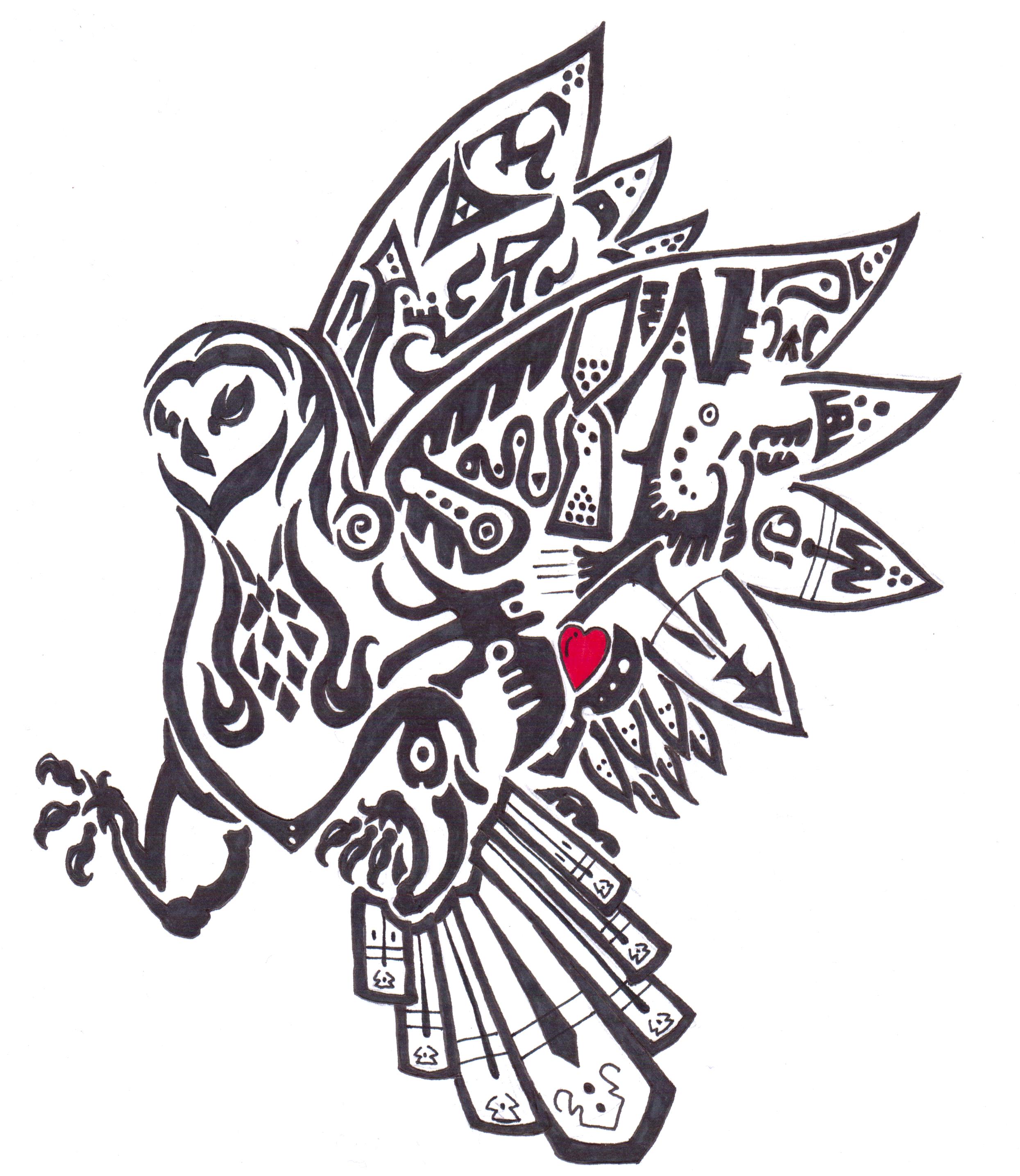 tribal owl tattoos on owl tattoos owl