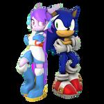 Blue and Purple Blur