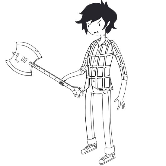 Adventure time marceline and marshall coloring pages ~ Marshall Lee with Axe- Bass by Cowboydan16 on DeviantArt