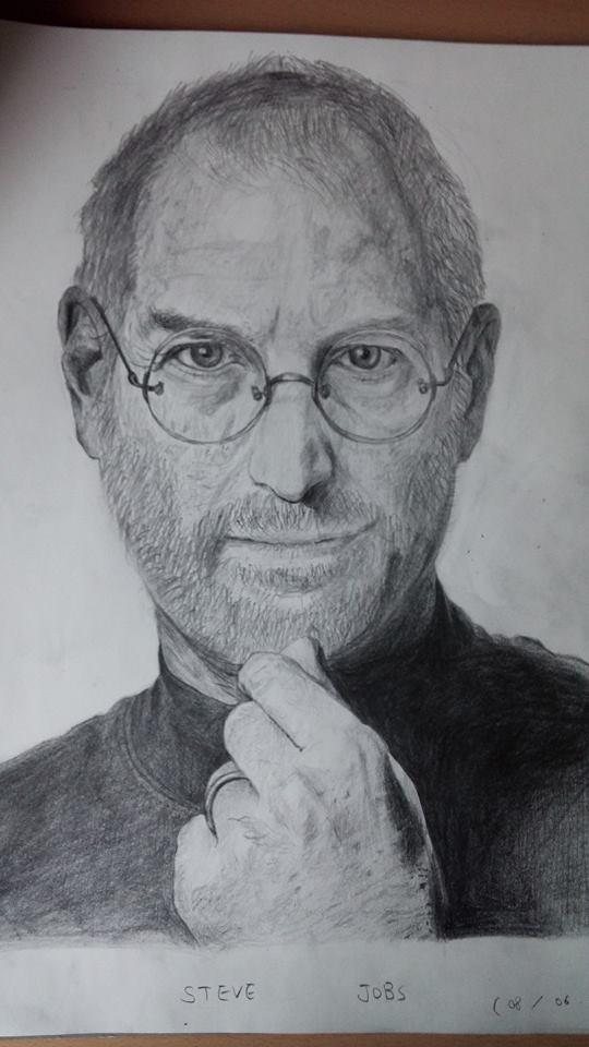 Steve jobs pencil drawing by peter0414