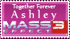 Ashley Mass Effect 3 stamp by appleofecstacy