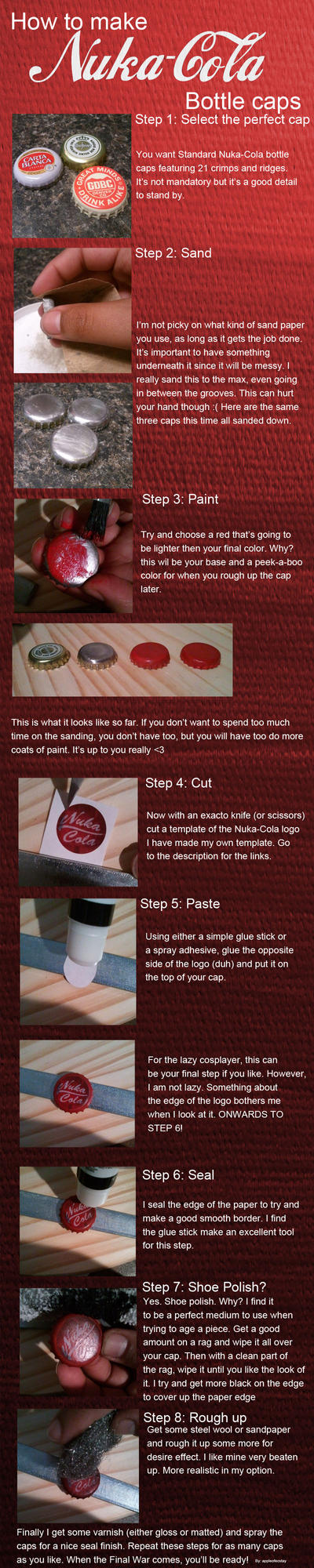 How To Make Nuka Cola Caps By Appleofecstacy On Deviantart