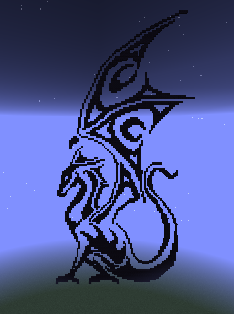 Tribal Dragon Minecraft Pixelart 2 By Zebrawyvern On Deviantart