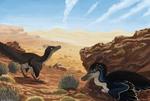 Velociraptor pair
