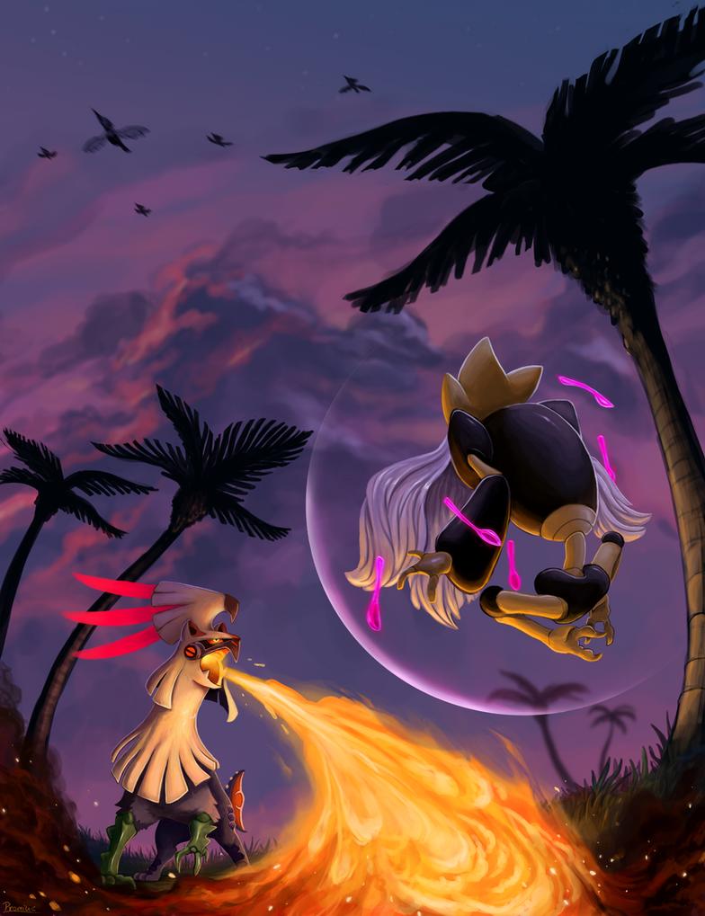 Silvally vs Mega Alakazam by Promilie