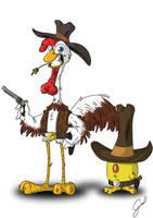 Chick Bill and Chick Boy by Galhardo