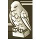 Bone Falcon Statue by Mothkitten