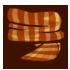 Scarf - Pumpkin Striped by Mothkitten