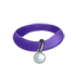 Collar - Purple with Silver Tag by Mothkitten