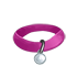 Collar - Pink with Silver Tag by Mothkitten