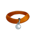 Collar - Orange with Silver Tag by Mothkitten