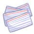 Paper - Index Card Stack (x10) by Mothkitten