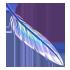 Feather - Light Iridescent by Mothkitten