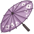 Cherry Blossom Parasol - Purple by Mothkitten