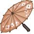 Cherry Blossom Parasol - Orange by Mothkitten