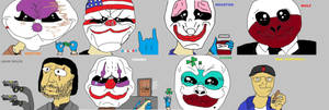 The Payday Crew... in MSPaint...