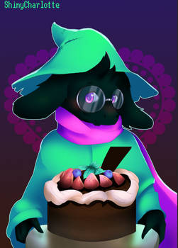 Ralsei baked a cake! (Deltarune commission)