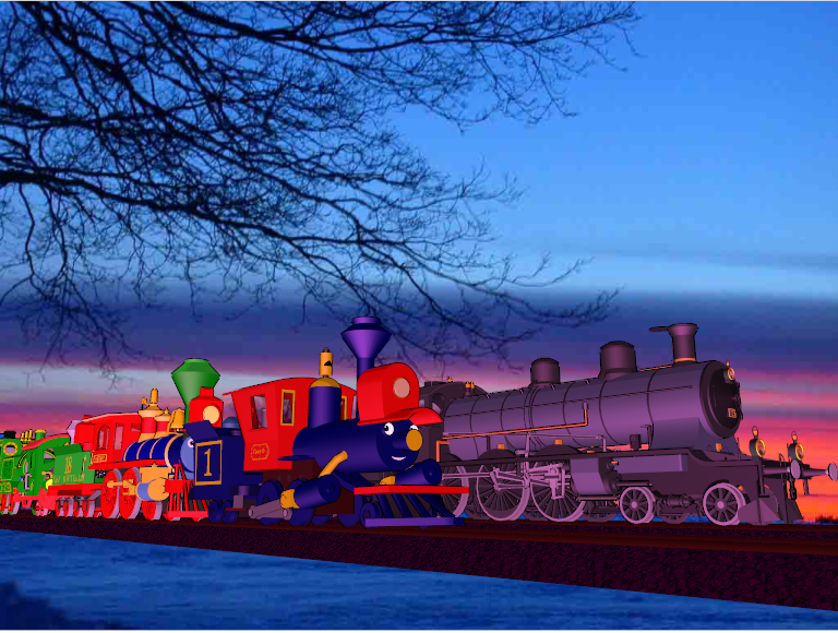Train Parade in Christmas by Tonypilot