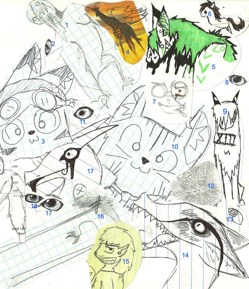 Doodle Dump #2 by VortexDomian