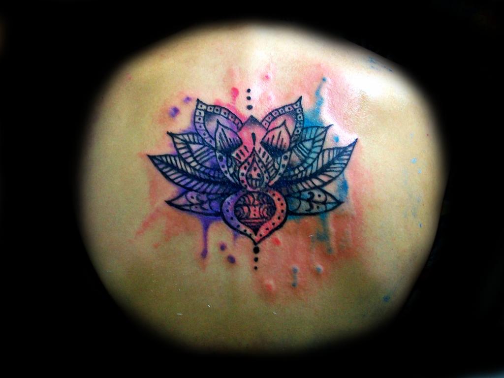 Abstract Watercolor Lotus Lotus Flower Watercolor Tattoo