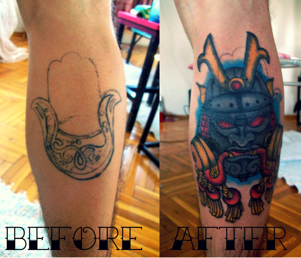 samurai mask old school tattoo by daft art by thejjoy on. Black Bedroom Furniture Sets. Home Design Ideas