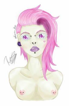 cotton candy punk girl?