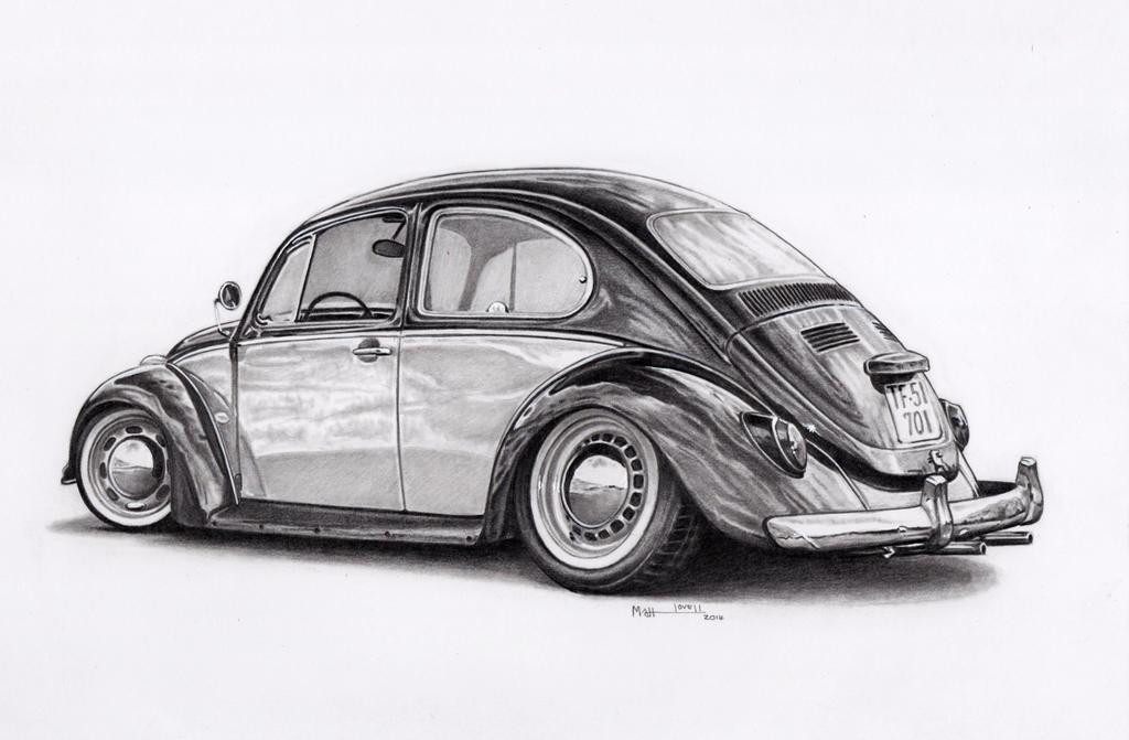 Line Drawing Vw Beetle : Vw beetle by froggstomper on deviantart