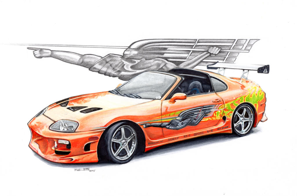 nissan skyline fast and furious drawing. the fast and furious toyota supra paul walker by froggstomper79 nissan skyline drawing s
