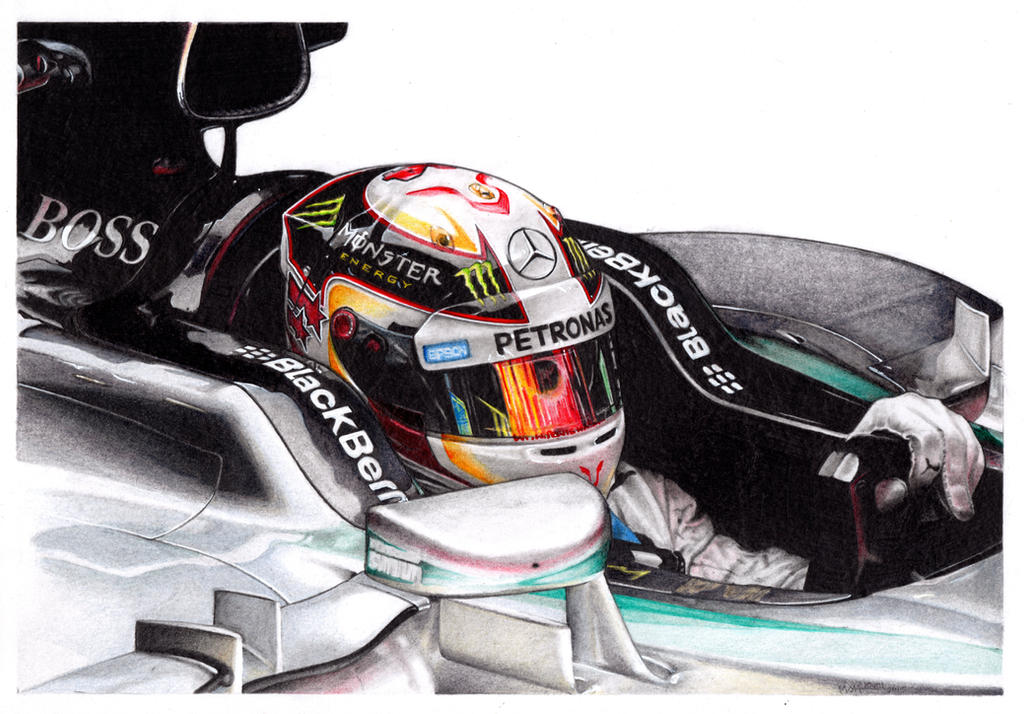 Lewis Hamilton 2015 by froggstomper79