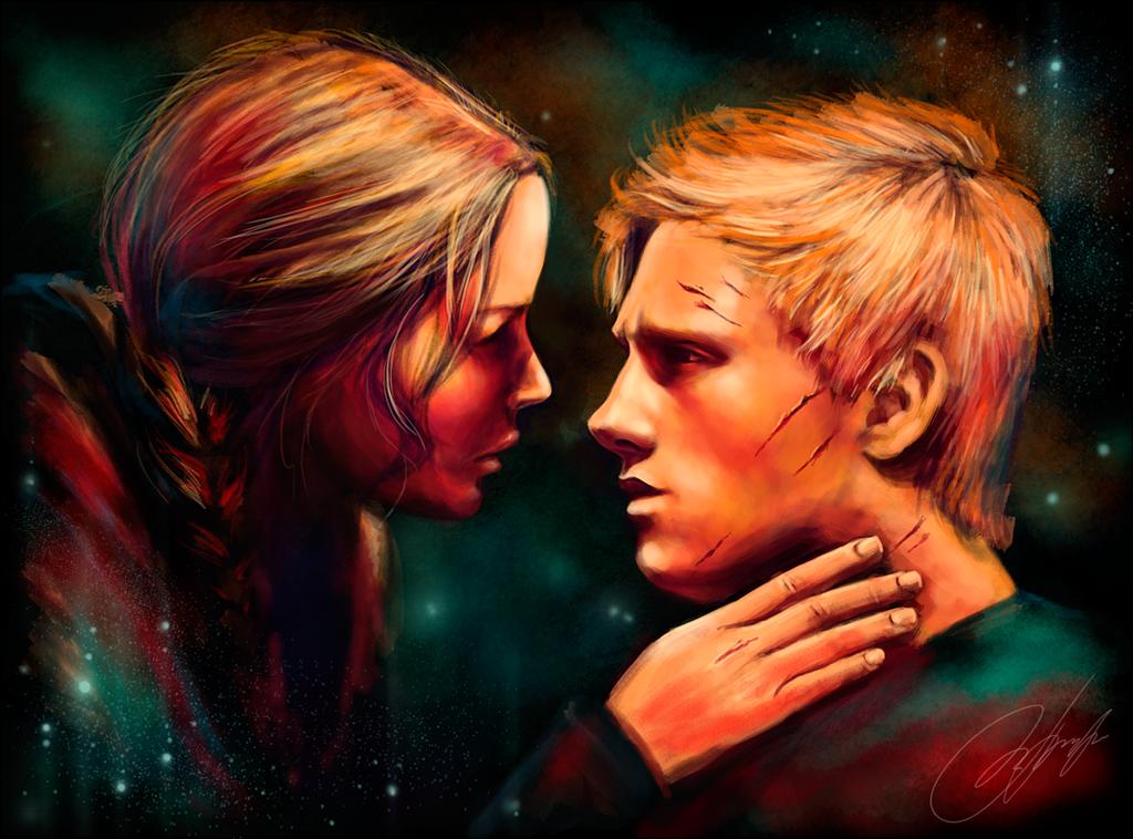 Hunger Games Fan Art Katniss And Peeta Peeniss by strannaya-a...