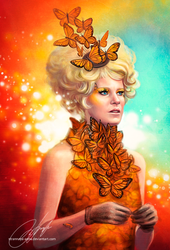 Effie Trinket / Elizabeth Banks by strannaya-anna