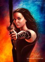 Catching Fire. Katniss Everdeen by strannaya-anna