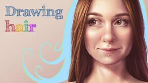 Drawing hair - VIDEO PROCESS by strannaya-anna