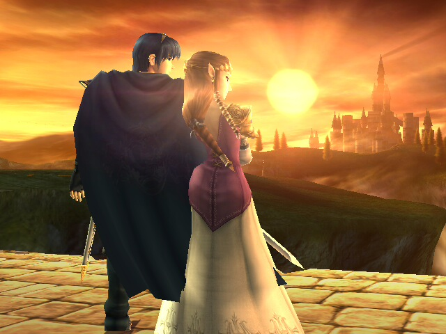 Marth xZelda Watching Sunset by Reinohikari