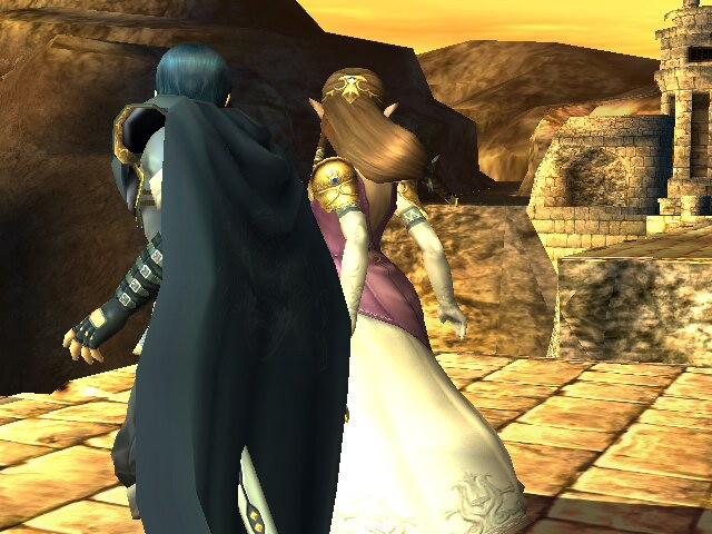 Zelda x Marth holding hands by Reinohikari
