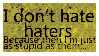 Haters... stamp by Reinohikari