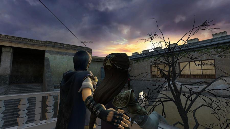 Watching sunset by Reinohikari