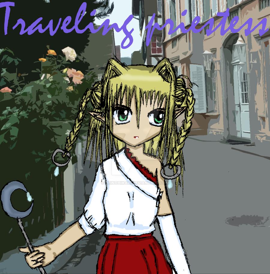 Traveling Priestess by Reinohikari