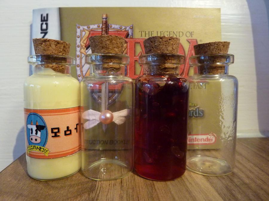 Zelda Mini bottles by Reinohikari