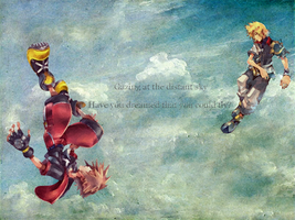 Kingdom Hearts Sky Wallpaper by Reinohikari
