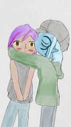 Ilke kissing Jolsah by Reinohikari