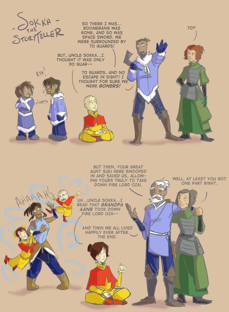 Sokka the Storyteller by ComickerGirl