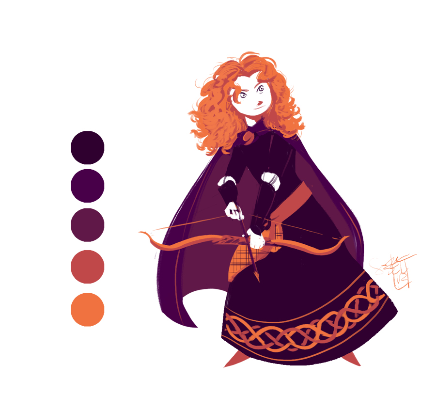 Merida - Color Palette Challenge by ComickerGirl
