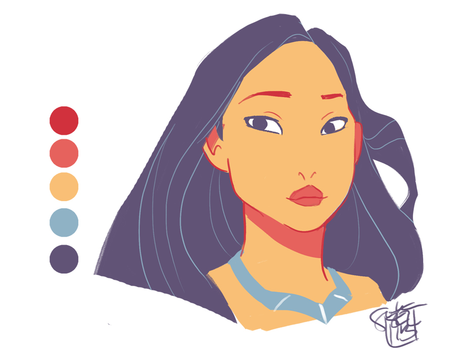 Pocahontas - Color Palette Challenge by ComickerGirl